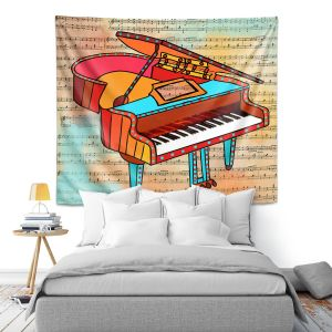 Artistic Wall Tapestry | Dora Ficher - Grand Piano | music instrument abstract simple
