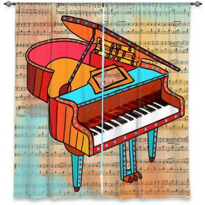 Decorative Window Treatments | Dora Ficher - Grand Piano | music instrument abstract simple