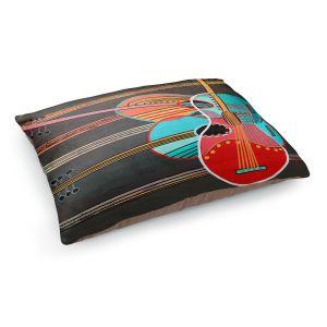 Decorative Dog Pet Beds | Dora Ficher - Guitars Rock | abstract string instrument music