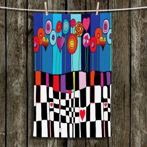 Unique Hanging Tea Towels | Dora Ficher - Happiness | Flowers Patterns