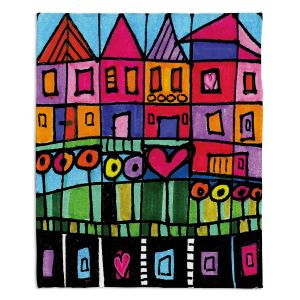 Artistic Sherpa Pile Blankets | Dora Ficher Happy Town