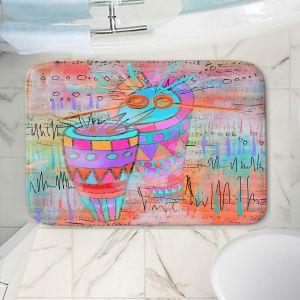 Decorative Bathroom Mats | Dora Ficher - I Hear a Drum | music instrument