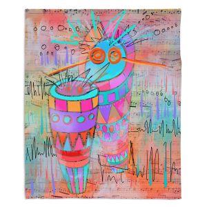 Artistic Sherpa Pile Blankets   Dora Ficher - I Hear a Drum   music instrument