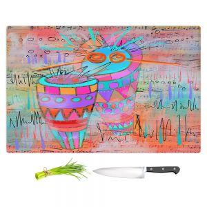 Artistic Kitchen Bar Cutting Boards | Dora Ficher - I Hear a Drum | music instrument