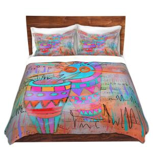 Artistic Duvet Covers and Shams Bedding | Dora Ficher - I Hear a Drum | music instrument