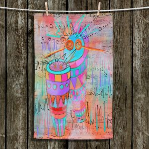 Unique Hanging Tea Towels | Dora Ficher - I Hear a Drum | music instrument
