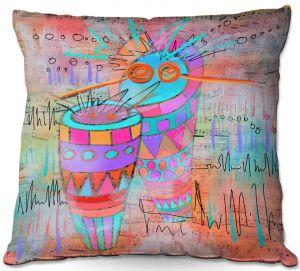 Throw Pillows Decorative Artistic   Dora Ficher - I Hear a Drum   music instrument