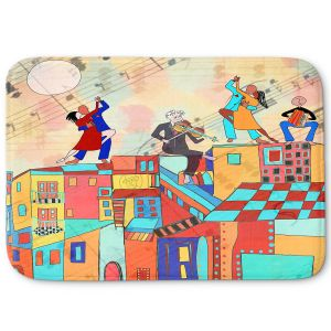 Decorative Bathroom Mats | Dora Ficher - La Boca Baila | city rooftop dancing