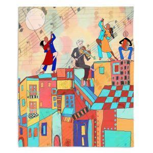 Artistic Sherpa Pile Blankets | Dora Ficher - La Boca Baila | city rooftop dancing