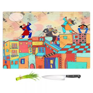 Artistic Kitchen Bar Cutting Boards | Dora Ficher - La Boca Baila | city rooftop dancing