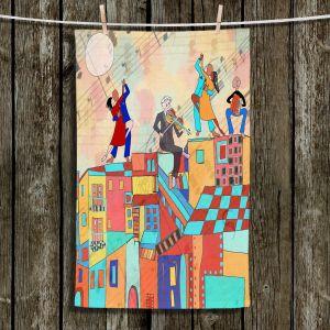 Unique Bathroom Towels | Dora Ficher - La Boca Baila | city rooftop dancing