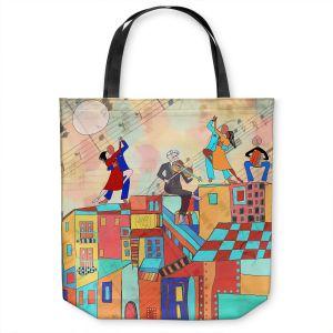 Unique Shoulder Bag Tote Bags   Dora Ficher - La Boca Baila   city rooftop dancing