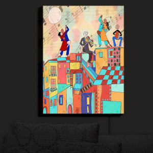 Nightlight Sconce Canvas Light | Dora Ficher - La Boca Baila | city rooftop dancing