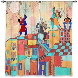 Decorative Window Treatments   Dora Ficher - La Boca Baila   city rooftop dancing