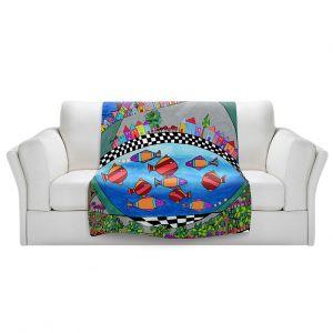 Artistic Sherpa Pile Blankets   Dora Ficher - Las Colinas   City Neighborhood Fish
