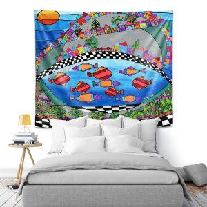 Artistic Wall Tapestry | Dora Ficher - Las Colinas | City Neighborhood Fish