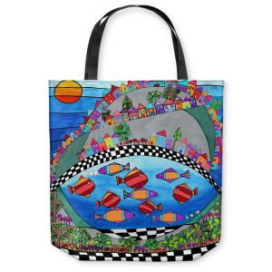 Unique Shoulder Bag Tote Bags | Dora Ficher - Las Colinas | City Neighborhood Fish