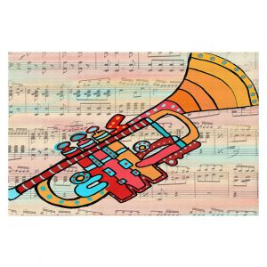 Decorative Floor Covering Mats | Dora Ficher - Lets Play the Trumpet | instrument music brass