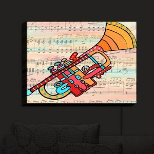 Nightlight Sconce Canvas Light | Dora Ficher - Lets Play the Trumpet | instrument music brass