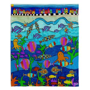 Artistic Sherpa Pile Blankets | Dora Ficher - LIttle Houses By the Sea