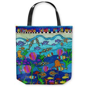 Unique Shoulder Bag Tote Bags | Dora Ficher - LIttle Houses By the Sea