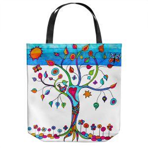 Unique Shoulder Bag Tote Bags   Dora Ficher - Love Tree   Nature Trees Birds Flowers