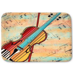 Decorative Bathroom Mats | Dora Ficher - Melody 2 | violin instrument music string