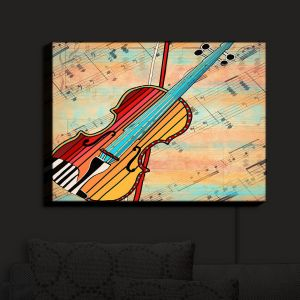 Nightlight Sconce Canvas Light | Dora Ficher - Melody 2 | violin instrument music string