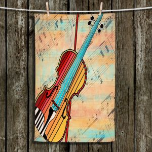 Unique Hanging Tea Towels | Dora Ficher - Melody 2 | violin instrument music string