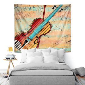 Artistic Wall Tapestry   Dora Ficher - Melody 2   violin instrument music string