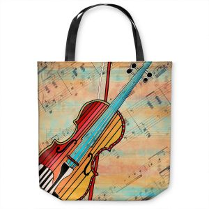 Unique Shoulder Bag Tote Bags | Dora Ficher - Melody 2 | violin instrument music string