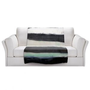 Artistic Sherpa Pile Blankets   Dora Ficher - Not Always Black or White 1   Abstract stripes shapes grunge