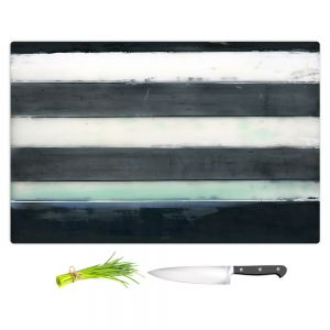 Artistic Kitchen Bar Cutting Boards | Dora Ficher - Not Always Black or White 1 | Abstract stripes shapes grunge