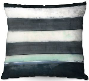 Throw Pillows Decorative Artistic | Dora Ficher - Not Always Black or White 1 | Abstract stripes shapes grunge