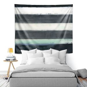 Artistic Wall Tapestry | Dora Ficher - Not Always Black or White 1 | Abstract stripes shapes grunge