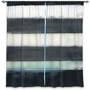Decorative Window Treatments | Dora Ficher - Not Always Black or White 1 | Abstract stripes shapes grunge