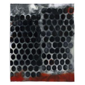 Decorative Fleece Throw Blankets | Dora Ficher - Not Always Black or White 11 | Abstract dots pattern grunge
