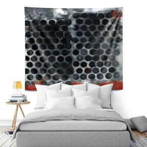Artistic Wall Tapestry | Dora Ficher - Not Always Black or White 11 | Abstract dots pattern grunge
