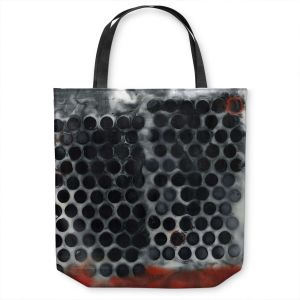 Unique Shoulder Bag Tote Bags | Dora Ficher - Not Always Black or White 11 | Abstract dots pattern grunge