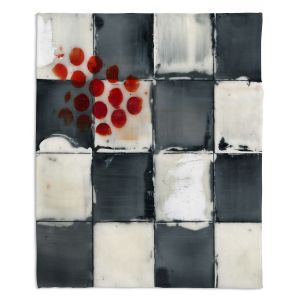 Decorative Fleece Throw Blankets | Dora Ficher - Not Always Black or White 2 | Abstract stripes squares checkers tile grunge