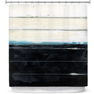 Premium Shower Curtains | Dora Ficher - Not Always Black or White 3 | Abstract stripes grunge