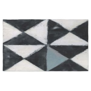 Artistic Pashmina Scarf | Dora Ficher - Not Always Black or White 5 | Abstract, shapes, checkers, triangle, grunge