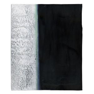 Decorative Fleece Throw Blankets | Dora Ficher - Not Always Black or White 9 | Abstract stripes grunge