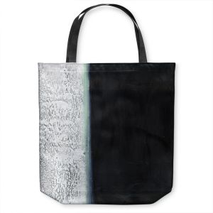 Unique Shoulder Bag Tote Bags | Dora Ficher - Not Always Black or White 9 | Abstract stripes grunge