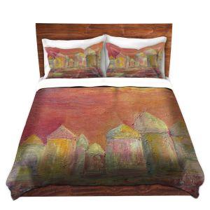 Artistic Duvet Covers and Shams Bedding   Dora Ficher - Orange Sky
