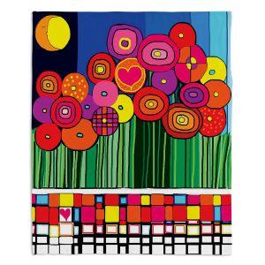 Decorative Fleece Throw Blankets   Dora Ficher - Poppy Love