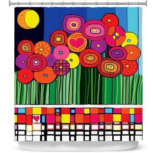 Premium Shower Curtains | Dora Ficher Poppy Love