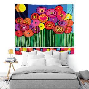 Artistic Wall Tapestry   Dora Ficher Poppy Love