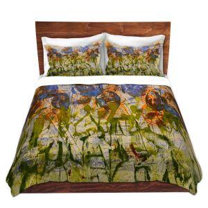 Artistic Duvet Covers and Shams Bedding | Dora Ficher - Purple Flowers | Nature Flowers