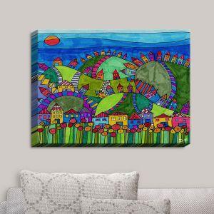 Decorative Canvas Wall Art | Dora Ficher - Rolling Hills | Bright Colors Hills